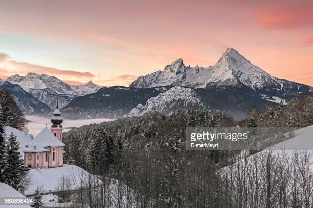 Maria Gern Church and Watzmann - Nationalpark Berchtesgaden