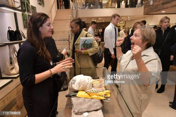 Maria Giulia Maramotti and Jill Medvedow attend the Max Mara Celebrates Huma Bhabha 'They Live' At ICA/Boston on March 20 2019 in Boston Massachusetts
