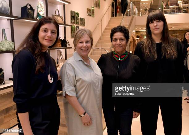 Maria Giulia Maramotti Jill Medvedow Eva Respini and Huma Bhabha attend the Max Mara Celebrates Huma Bhabha 'They Live' At ICA/Boston on March 20...