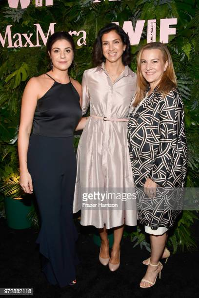 Maria Giulia Maramotti Radhika Jones and Krista Smith wearing Max Mara attend the Max Mara Celebration for Alexandra Shipp 2018 Women In Film Max...