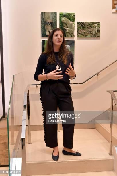 Maria Giulia Maramotti speaks at the Max Mara Celebrates Huma Bhabha 'They Live' At ICA/Boston on March 20 2019 in Boston Massachusetts