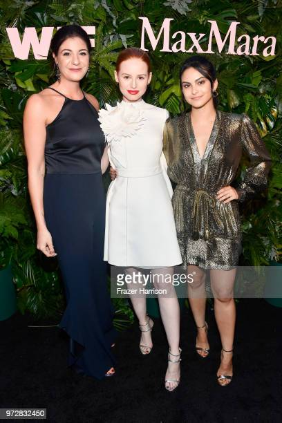 Maria Giulia Maramotti wearing Max Mara Madelaine Petsch and Camila Mendes attend the Max Mara Celebration for Alexandra Shipp 2018 Women In Film Max...