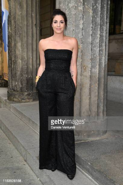 Maria Giulia Prezioso Maramotti wearing Max Mara attends the Max Mara Resort 2020 Fashion Show at Neues Museum on June 03 2019 in Berlin Germany
