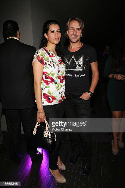 Maria Gonzalez and Carlos Gascon attends the Mio wine launch at Downtown hotel on April 10 2013 in Mexico City Mexico