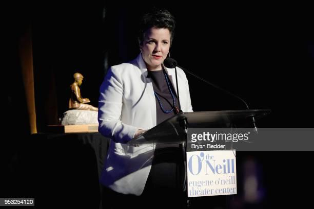 Maria Goyanes attends The Eugene O'Neill Theater Center's 18th Annual Monte Cristo Award Honoring LinManuel Miranda Edison Ballroom on April 30 2018...