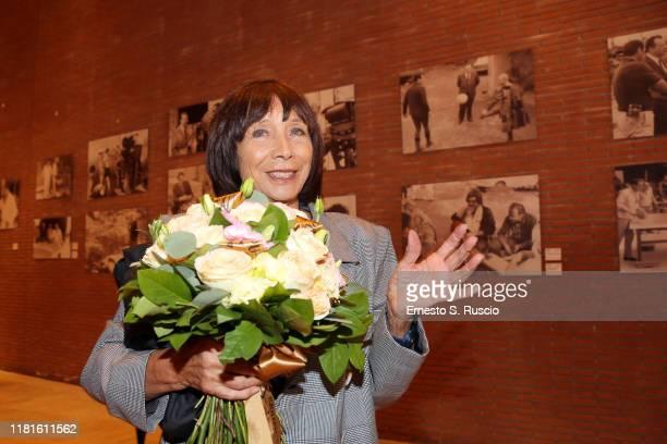 Maria Grazia Buccella attends the opening of the exhibition Cecchi Gori Una Famiglia Italiana during the 14th Rome Film Festival on October 17 2019...