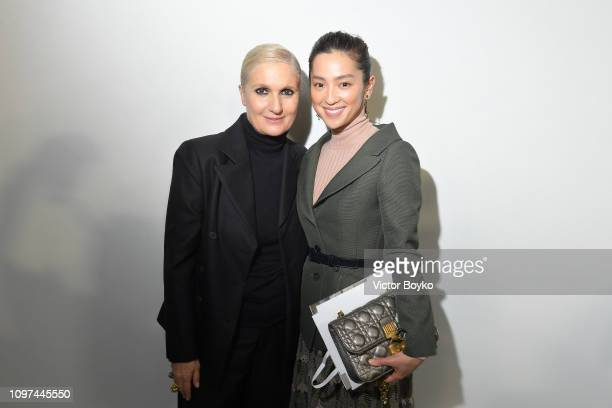 Maria Grazia Chiuri and Anne Nakamura attend the Christian Dior Haute Couture Spring Summer 2019 show as part of Paris Fashion Week on January 21...