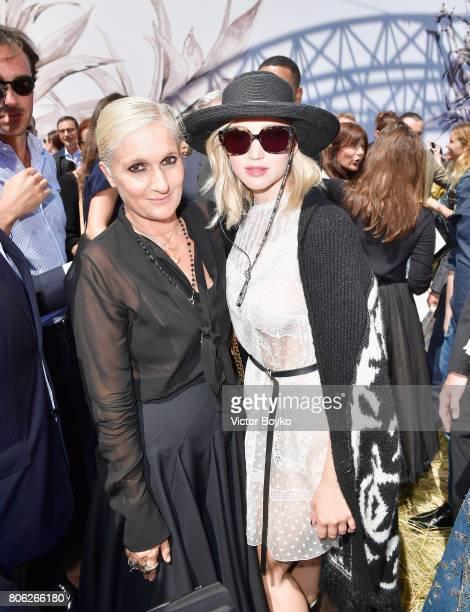 Maria Grazia Chiuri and Jennifer Lawrence attends the Christian Dior Haute Couture Fall/Winter 20172018 show as part of Haute Couture Paris Fashion...
