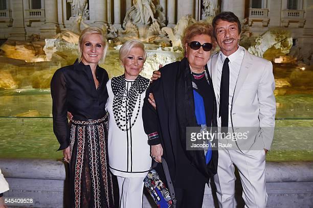 Maria Grazia Chiuri Anna Fendi Carla Fendi and Pierpaolo Piccoli attend the Fendi Roma 90 Years Anniversary Welcome Cocktail at Palazzo Carpegna on...