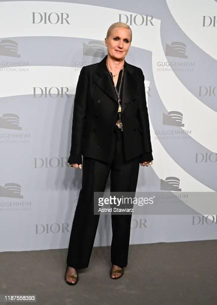 Maria Grazia Chiuri attends 2019 Guggenheim International Gala PreParty at Solomon R Guggenheim Museum on November 13 2019 in New York City