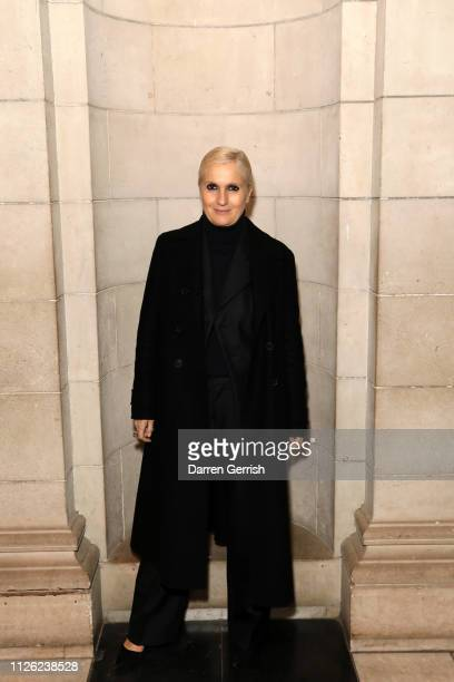 Maria Grazia Chiuri attends the 'Christian Dior: Designer Of Dreams' exhibition at the V&A opening private view on January 30, 2019 in London,...