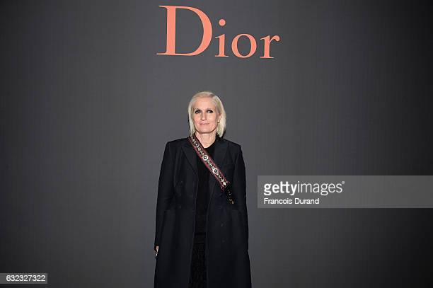 Maria Grazia Chiuri attends the Dior Homme Menswear Fall/Winter 20172018 show as part of Paris Fashion Week on January 21 2017 in Paris France