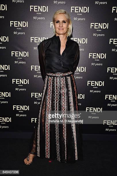 Maria Grazia Chiuri attends the Fendi Roma 90 Years Anniversary Welcome Cocktail at Palazzo Carpegna on July 7 2016 in Rome Italy