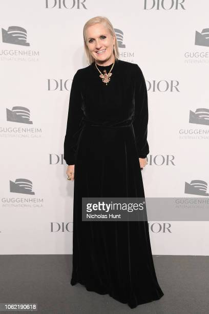 Maria Grazia Chiuri attends the Guggenheim International Gala Dinner made possible by Dior at Solomon R Guggenheim Museum on November 15 2018 in New...