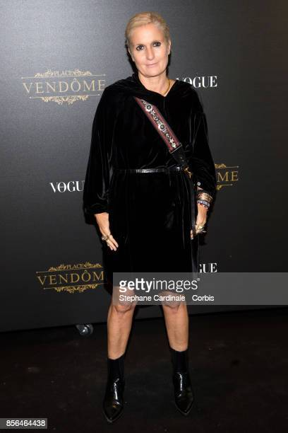 Maria Grazia Chiuri attends Vogue Party as part of the Paris Fashion Week Womenswear Spring/Summer 2018 at on October 1 2017 in Paris France