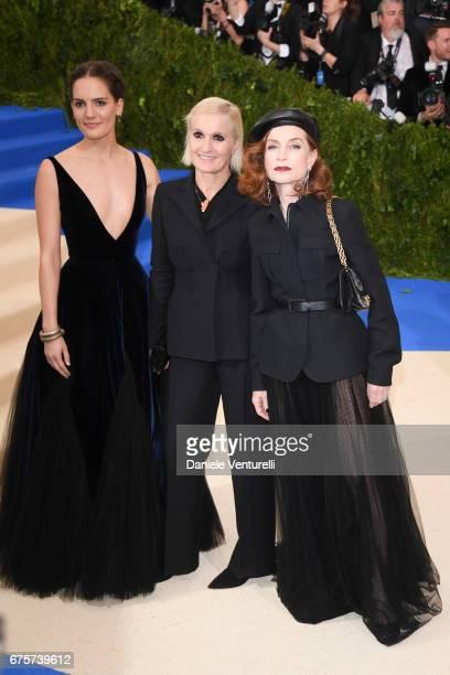Maria Grazia Chiuri Isabelle Huppert attend the 'Rei attends 'Rei Kawakubo/Comme des Garcons Art Of The InBetween' Costume Institute Gala Arrivals at...