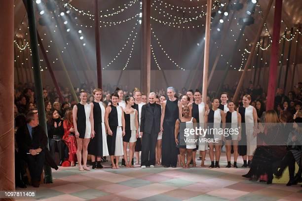 Maria Grazia Chiuri walks the runway during the Christian Dior Haute Couture Spring Summer 2019 fashion show as part of Paris Fashion Week on January...