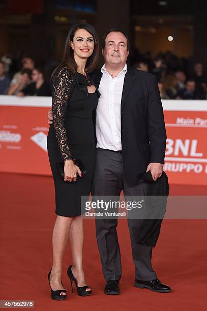 Maria Grazia Cucinotta and Giulio Violati attend the 'Obra' Red Carpet during the 9th Rome Film Festival on October 20 2014 in Rome Italy
