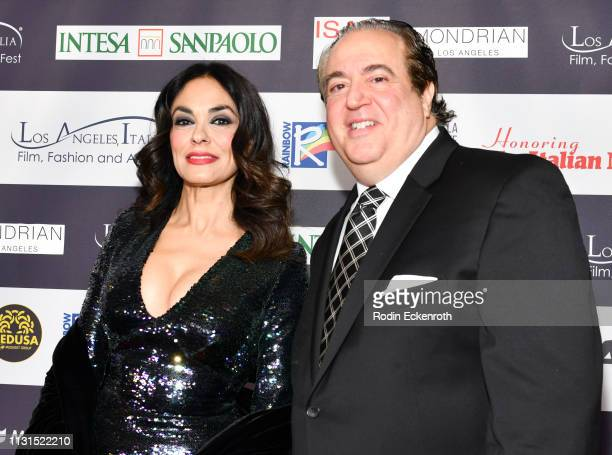 Maria Grazia Cucinotta and Nick Vallelonga attend the 14th Annual Los Angeles Italia Film Fashion and Art Fest Closing Night Gala at TCL Chinese 6...