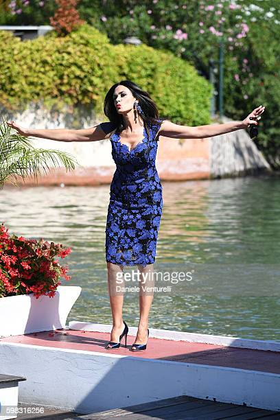 Maria Grazia Cucinotta arrives at Lido during the 73rd Venice Film Festival on September 1 2016 in Venice Italy