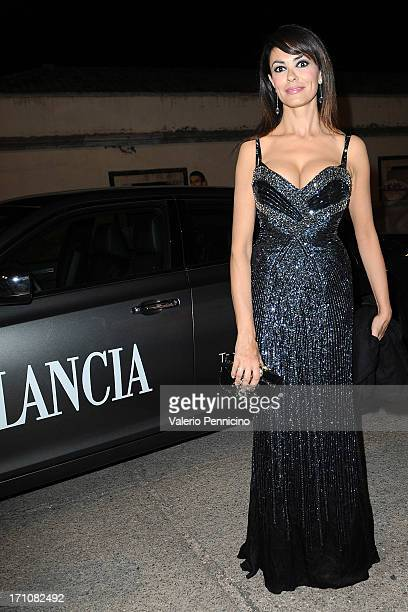 Maria Grazia Cucinotta arrives the Lancia Cafe during the Taormina Filmfest 2013 on June 21 2013 in Taormina Italy