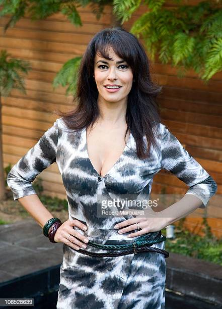 Maria Grazia Cucinotta attends a press conference on the set of her latest film project 'Transgression' on November 4 2010 in Barcelona Spain
