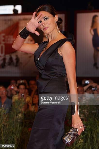 "Maria Grazia Cucinotta attends ""A Single Man"" Premiere at the Sala Grande during the 66th Venice Film Festival on September 11, 2009 in Venice, Italy."