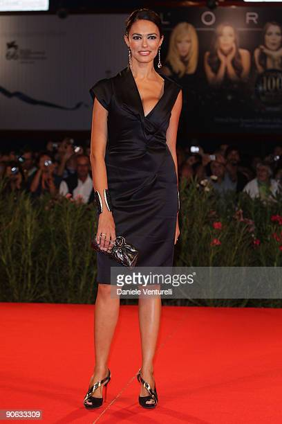 Maria Grazia Cucinotta attends 'A Single Man' Premiere at the Sala Grande during the 66th Venice Film Festival on September 11 2009 in Venice Italy