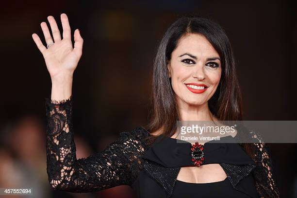 Maria Grazia Cucinotta attends 'Obra' Red Carpet during the 9th Rome Film Festival at Auditorium Parco Della Musica on October 20 2014 in Rome Italy
