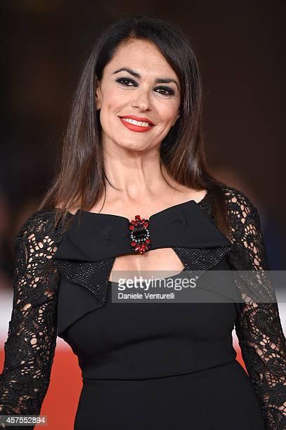 Maria Grazia Cucinotta attends 'Obra' Red Carpet during the 9th Rome Film Festival at Auditorium Parco Della Musica on October 20, 2014 in Rome,...