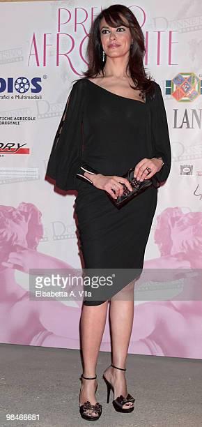 Maria Grazia Cucinotta attends the '2010 Premio Afrodite' at the Studios on April 14 2010 in Rome Italy