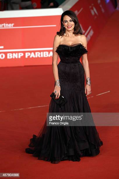 Maria Grazia Cucinotta attends the Award Ceremony Red Carpet during the 9th Rome Film Festival on October 25 2014 in Rome Italy