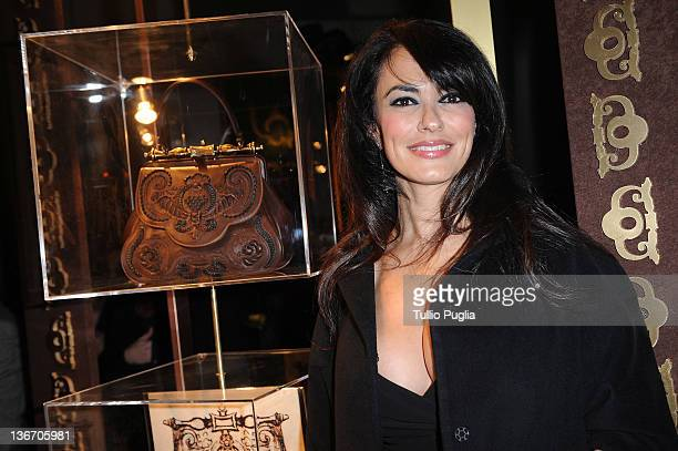 Maria Grazia Cucinotta attends the Gerardini presentation during Pitti Immagine Uomo 81 on January 10 2012 in Florence Italy
