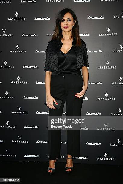 Maria Grazia Cucinotta attends the 'Maserati Levante' Presentation at Casa Delle Armi on April 6 2016 in Rome Italy