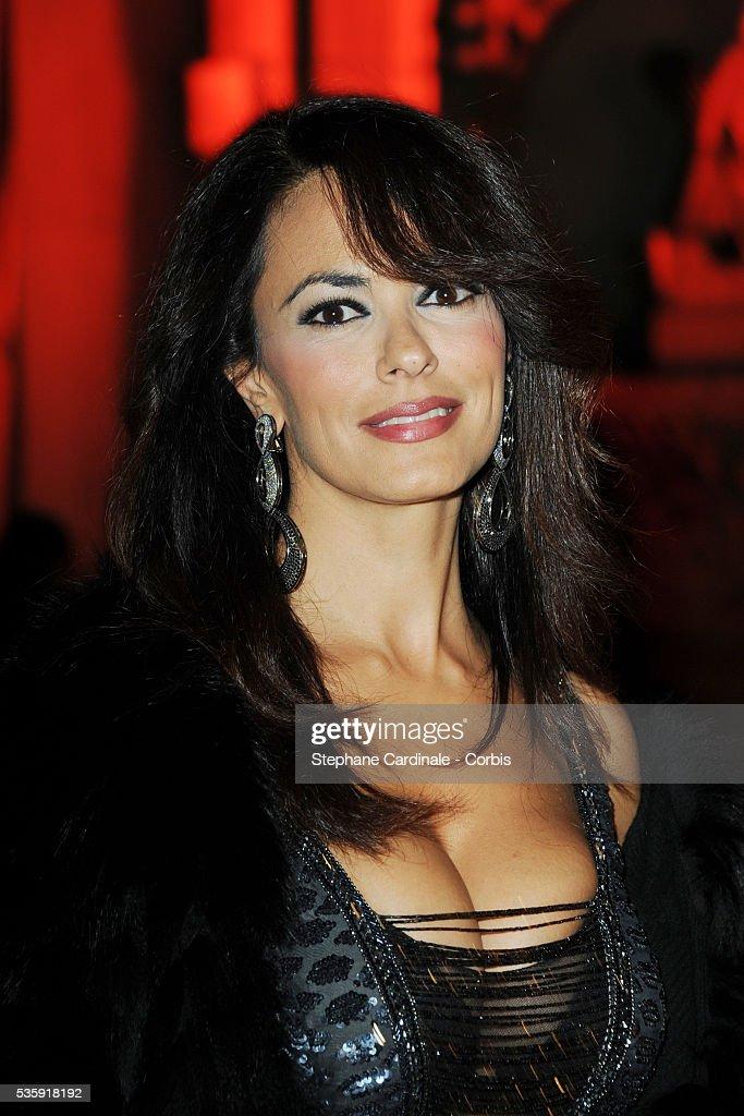 Maria Grazia Cucinotta attends the Roberto Cavalli Celebrate 40 Party at 'Les Beaux-Arts' in Paris.