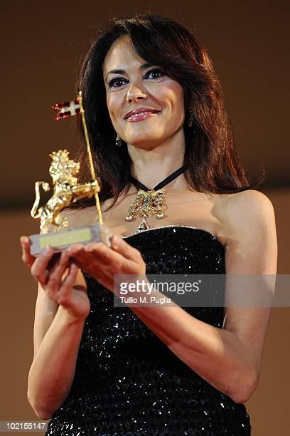 Maria Grazia Cucinotta attends the Taormina Arte Award at Taormina Film Fest 2010 on June 16 2010 in Taormina Italy