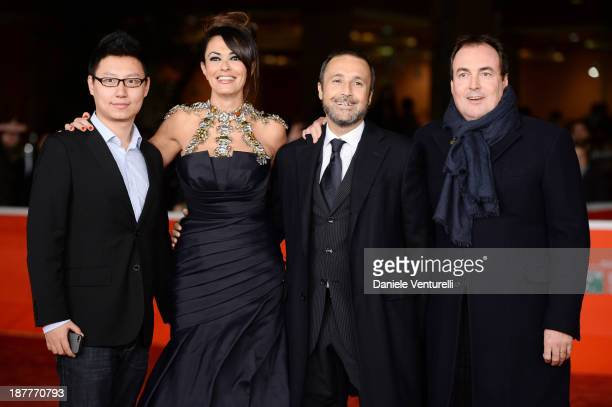 Maria Grazia Cucinotta Giulio Violati and guest attend 'Out Of The Furnace' Premiere during The 8th Rome Film Festival on November 12 2013 in Rome...