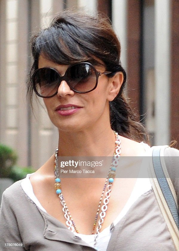 Maria Grazia Cucinotta is sighted in via Montenapoleone on July 29, 2013 in Milan, Italy.