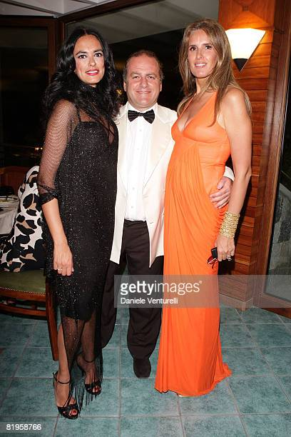 Maria Grazia Cucinotta, Pascal Vicedomini and Tizana Rocca attend day one of the Ischia Global Film And Music Festival on July 16, 2008 in Ischia,...