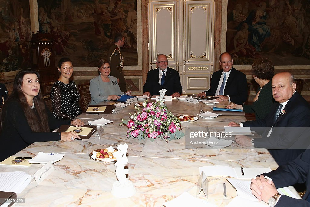 Maria Guleghina, Crown Princess Victoria of Sweden, Grand Duchess Maria Teresa of Luxembourg, Sir Philip Craven, Prince Albert II of Monaco and other guests attend the 5th honorary board of the International Paralympic Commitee on October 15, 2015 in Luxembourg, Luxembourg.