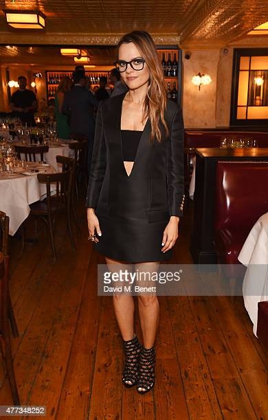 Maria Hatzistefanis attends a dinner hosted by Maria Hatzistefanis to launch the Rodial Design Challenge in association with Central Saint Martins at...