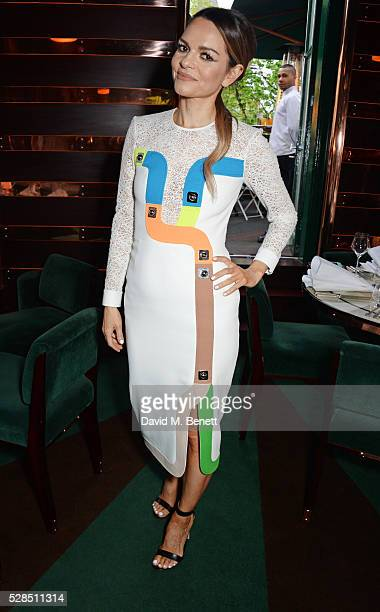 Maria Hatzistefanis attends a private dinner hosted by Rodial founder Maria Hatzistefanis Bay Garnett at Casa Cruz on May 5 2016 in London England