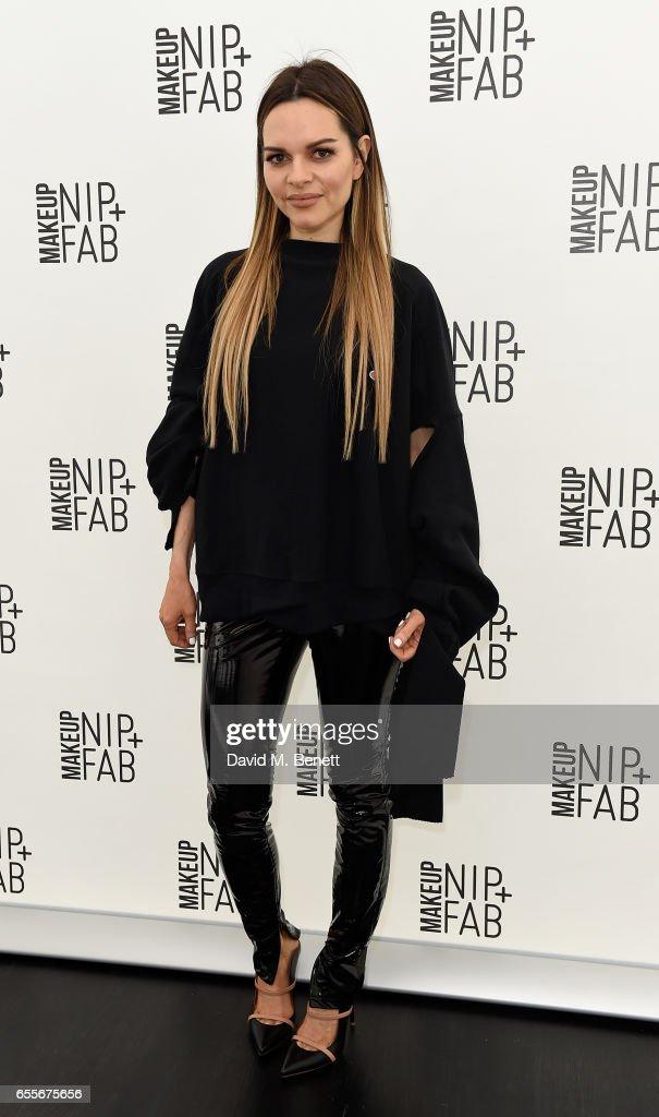 Mario Dedivanovic & Maria Hatzistefanis host the launch of NIP + FAB Makeup with model Chloe Lloyd