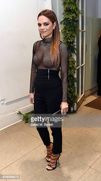 Maria Hatzistefanis attends the Stella McCartney Christmas Lights switch on at the Stella McCartney Bruton Street Store on December 7 2016 in London...