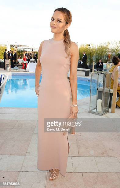 Maria Hatzistefanis attends The Weinstein Company's HANDS OF STONE Cocktail Party presented by de Grisogono at Terrasse by Albane in Cannes on May 16...