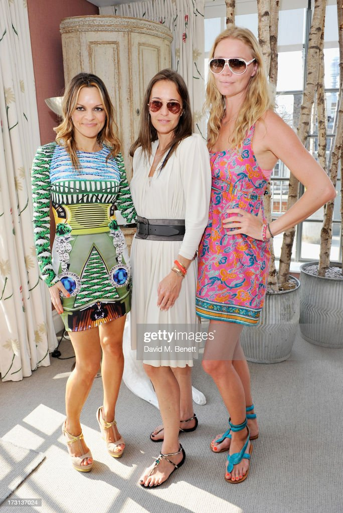 Maria Hatzistefanis, Julie Brankstrop and Jodie Kidd attend Mary Katrantzou for Rodial candle launch party at Soho Hotel on July 8, 2013 in London, England.