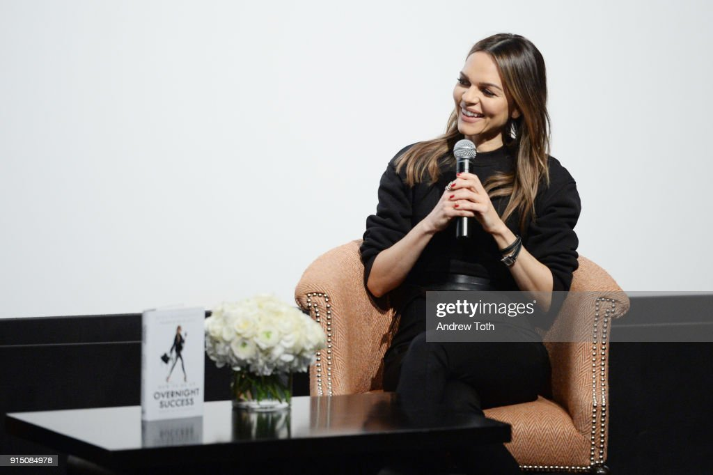 Maria Hatzistefanis participates in an interview for the launch of How To Be An Overnight Success at Crosby Street Hotel on February 6, 2018 in New York City.