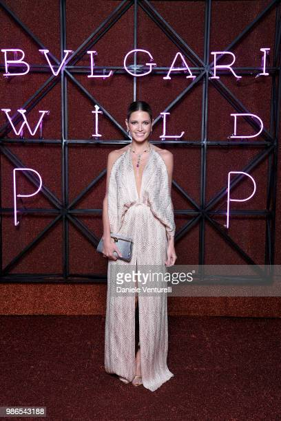 Maria Helena Bordon attends BVLGARI Dinner Party at Stadio dei Marmi on June 28 2018 in Rome Italy