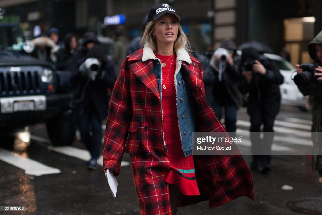 Maria Helena Bordon Meireles is seen attending Victoria Beckham during New York Fashion Week wearing Not Your Basic Denim, Gucci, 3.1 Phillip Lim, and Vans on February 12, 2017 in New York City.