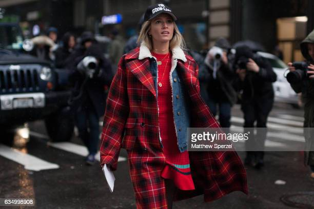 Maria Helena Bordon Meireles is seen attending Victoria Beckham during New York Fashion Week wearing Not Your Basic Denim Gucci 31 Phillip Lim and...